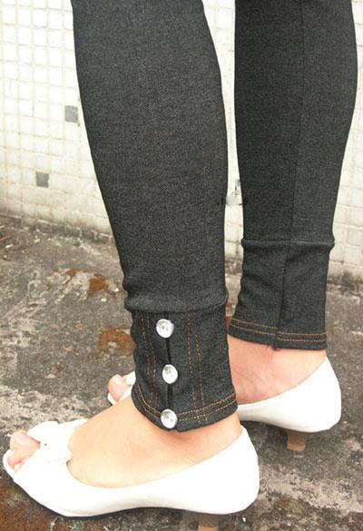 legging jeans com detalhe