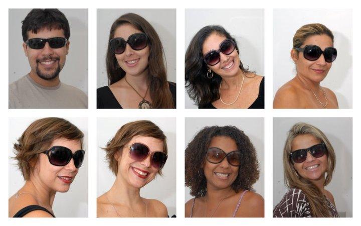 Leandro, Isabela, Elisa, Lúcia, Inês, Adriana e Tatiana