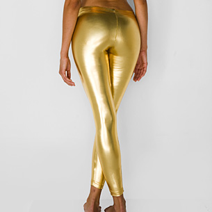 wet legging gold