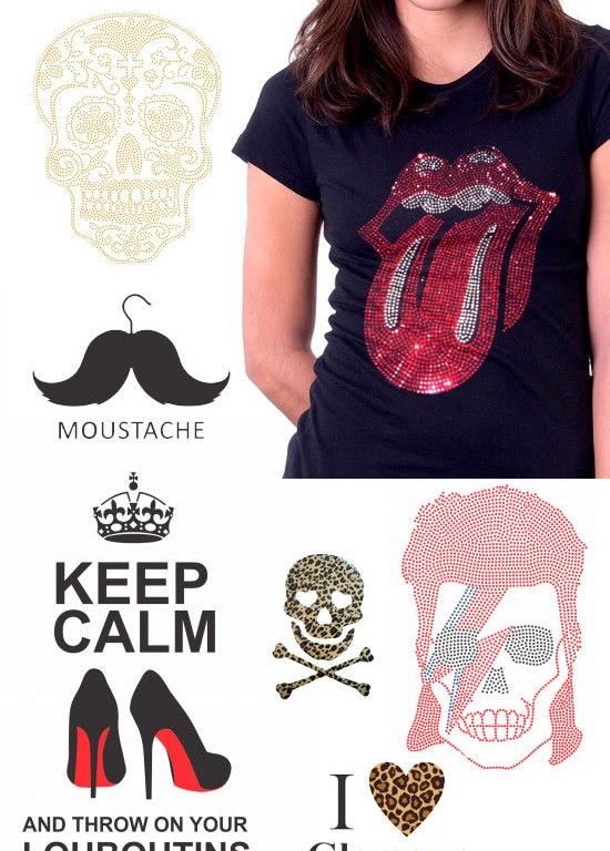 76f293698 DIY  faça você mesmo uma camiseta customizada com strass – QuaseNovo ...
